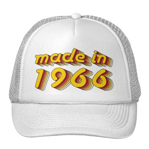 Made in 1966 (Yellow&Red) Hats