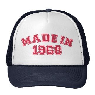 Made in 1968 mesh hat