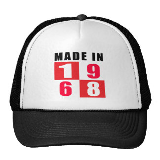 Made In 1968 Hats