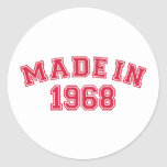 Made in 1968 stickers
