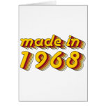 Made in 1968 (Yellow&Red) Card