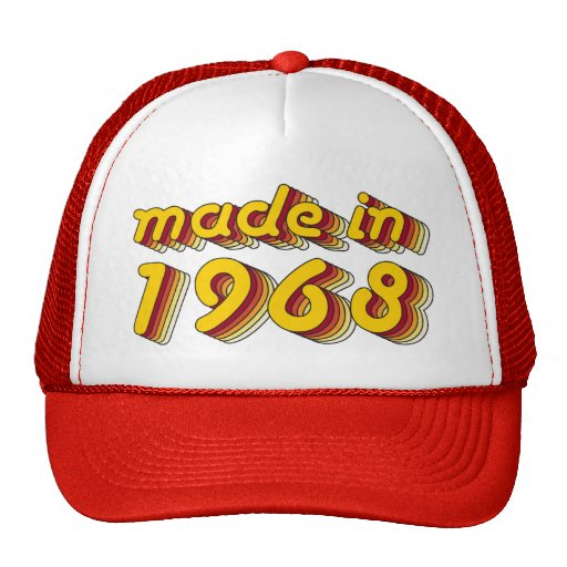 Made in 1968 (Yellow&Red) Trucker Hat