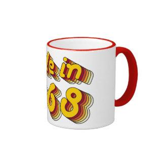 Made in 1968 (Yellow&Red) Coffee Mug