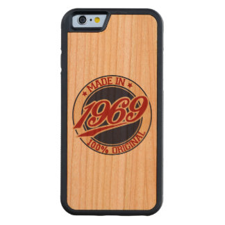 Made In 1969 Carved® Cherry iPhone 6 Bumper Case