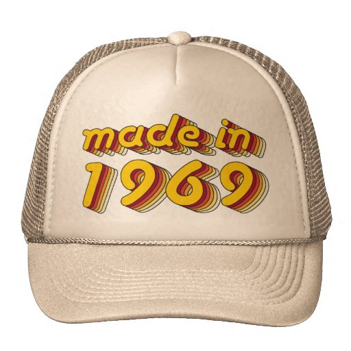 Made in 1969 (Yellow&Red) Mesh Hats