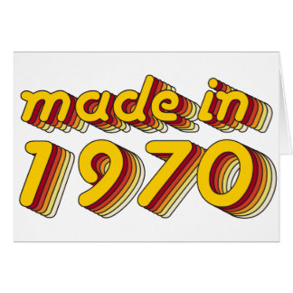 Made in 1970 (Yellow&Red) Card