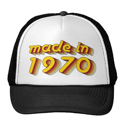 Made in 1970 (Yellow&Red) Mesh Hats