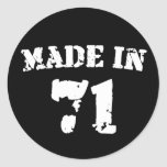 Made In 1971 Stickers