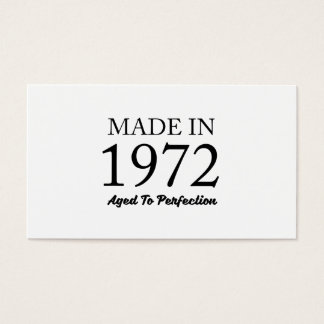 Made In 1972 Business Card