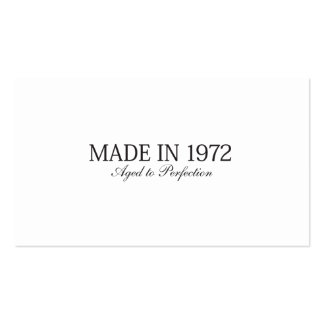 Made in 1972 pack of standard business cards