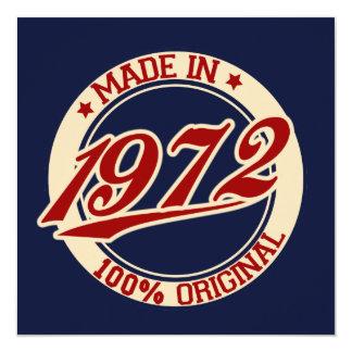 Made In 1972 Invitation