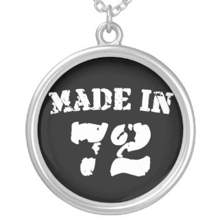 Made In 1972 Round Pendant Necklace
