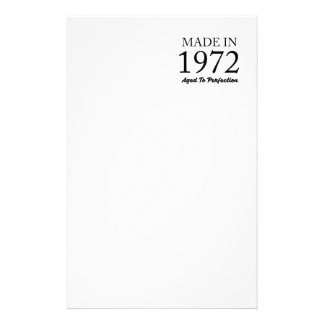 Made In 1972 Stationery
