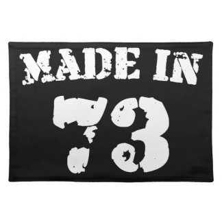 Made In 1973 Cloth Placemat