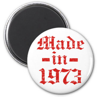 Made in 1973 designs 2 inch round magnet