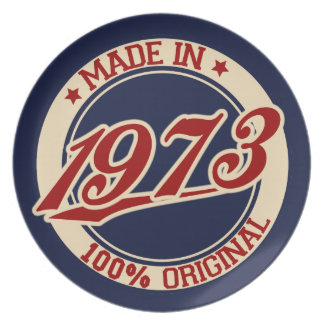 Made In 1973 Plate