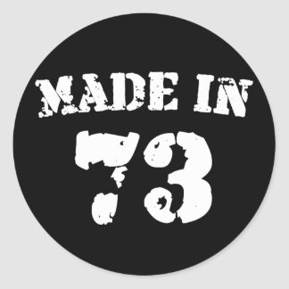 Made In 1973 Round Stickers