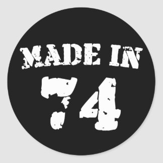 Made In 1974 Classic Round Sticker
