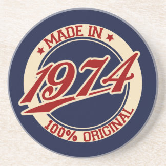 Made In 1974 Drink Coasters