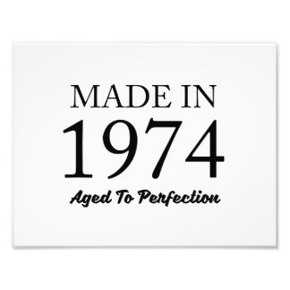 Made In 1974 Photo Print