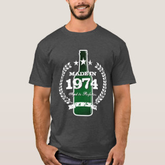 Made in 1974 vintage beer sign tee shirt
