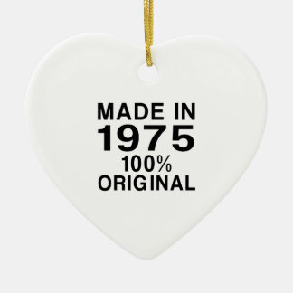 Made In 1975 Ceramic Ornament