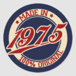 Made In 1975 Classic Round Sticker