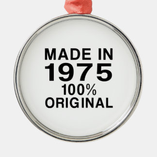 Made In 1975 Metal Ornament