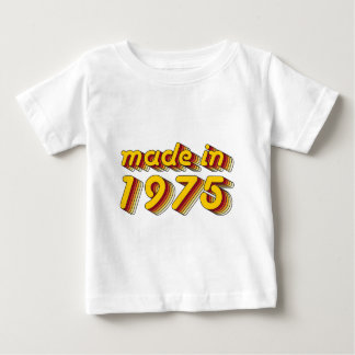 Made in 1975 (Yellow&Red) Baby T-Shirt