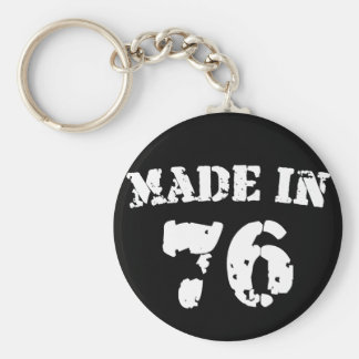 Made In 1976 Key Chain
