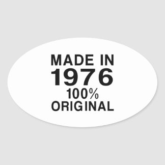 Made In 1976 Oval Sticker
