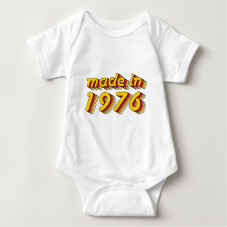 Made in 1976 (Yellow&Red) Baby Bodysuit