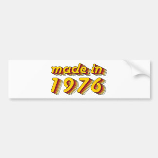 Made in 1976 (Yellow&Red) Bumper Sticker