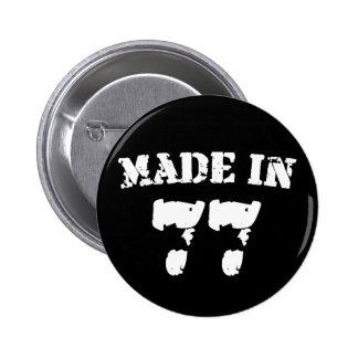 Made In 1977 2 Inch Round Button