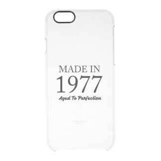 Made In 1977 Clear iPhone 6/6S Case