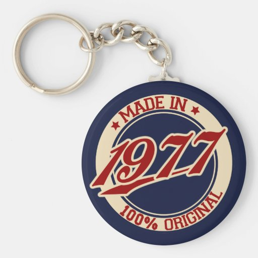 Made In 1977 Key Chains