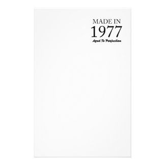 Made In 1977 Stationery