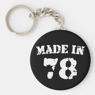 Made In 1978 Key Chains