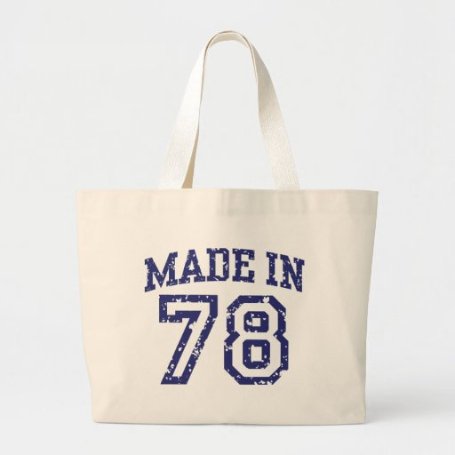 Made in 1978 tote bags
