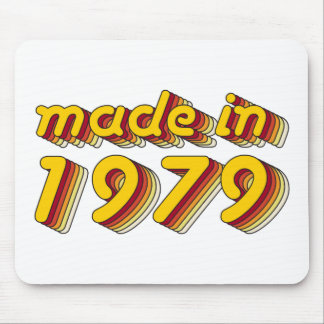 Made in 1979 (Yellow&Red) Mouse Pad