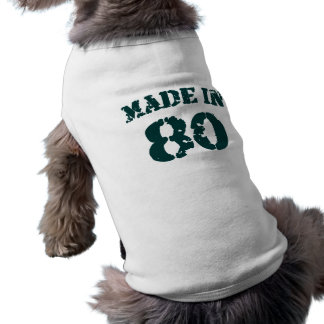 Made In 1980 Dog Clothing