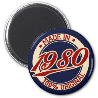 Made In 1980 Fridge Magnet