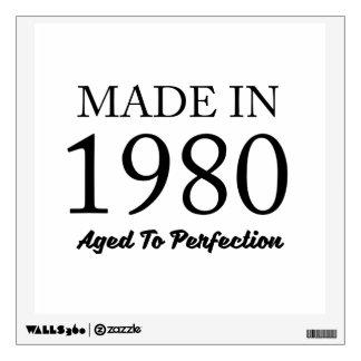 Made In 1980 Wall Decal