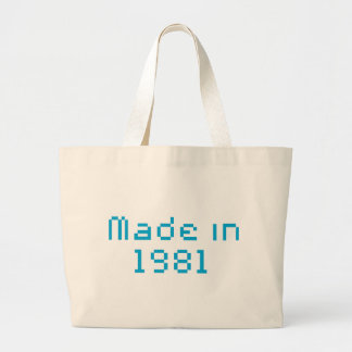 made in 1981 canvas bags
