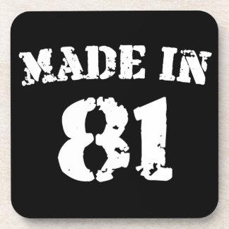 Made In 1981 Beverage Coaster