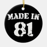 Made In 1981 Christmas Tree Ornament
