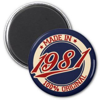 Made In 1981 Refrigerator Magnet