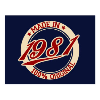 Made In 1981 Postcard