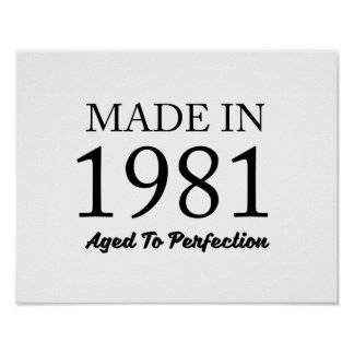Made In 1981 Poster