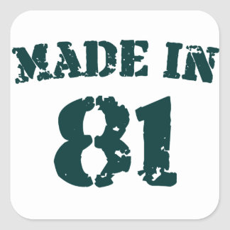 Made In 1981 Square Sticker